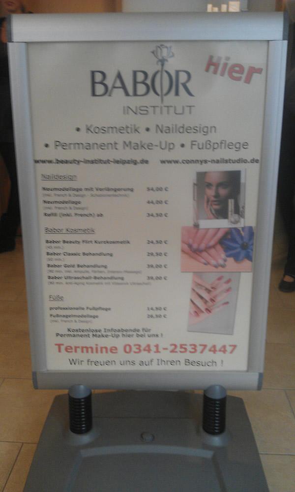 Plakat Beauty Institut Leipzig